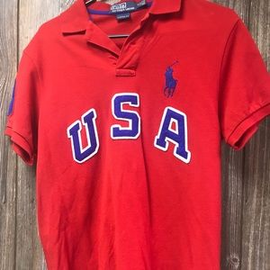 "Vintage Ralph Lauren ""USA"" Polo sz M"